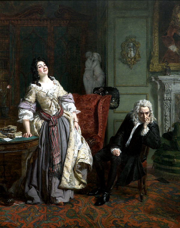 The Rejected Poet (1863) - William Powell Frith
