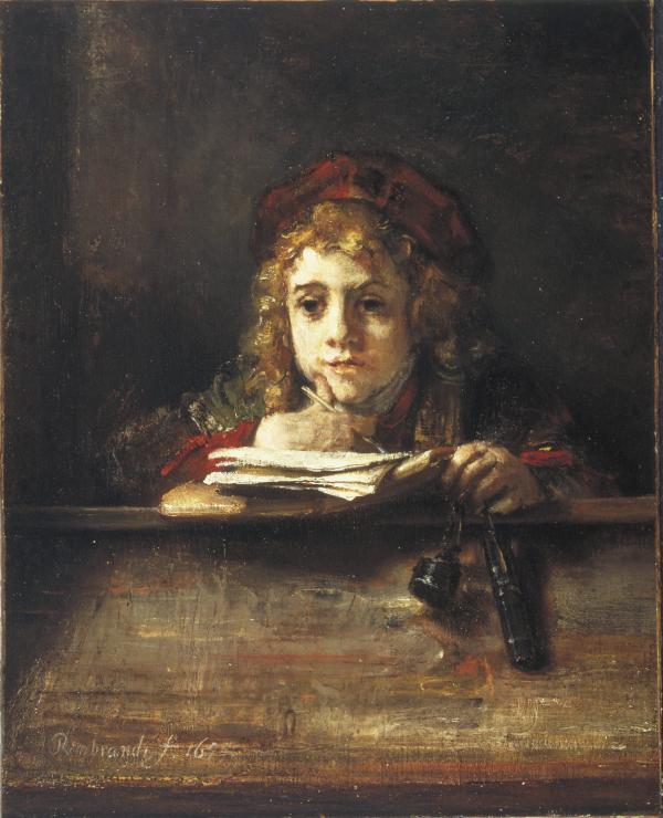 Titus at his desk (1655) - Rembrandt