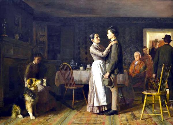 Breaking Home Ties (1890) - Thomas Hovenden