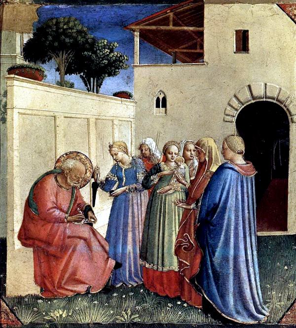 Imposizione del nome al Battista (1428-1430) - Beato Angelico