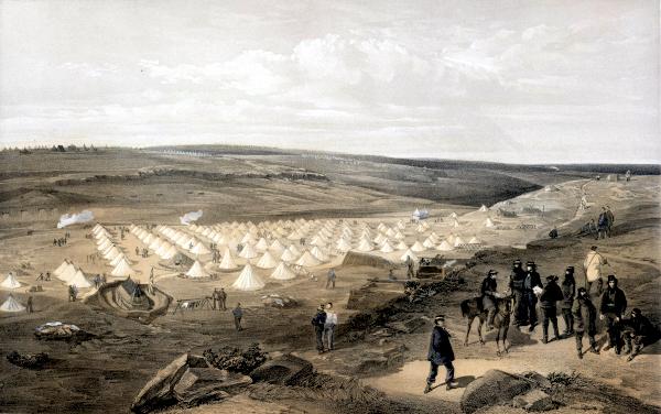 Camp of the naval brigade, before Sebastopol (1855) - William Simpson