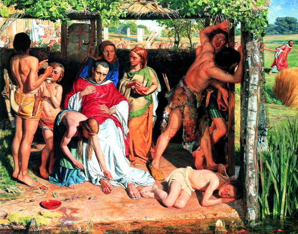 A Converted British Family Sheltering a Christian Missionary from the Persecution of the Druids (1849) - William Holman Hunt