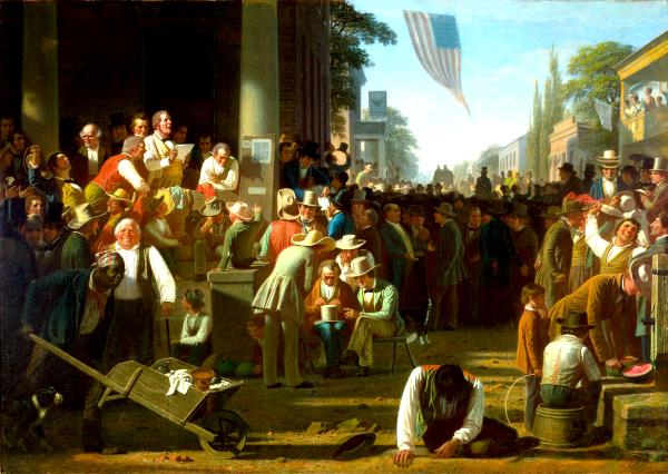 The Verdict of the People (1854) - George Caleb Bingham