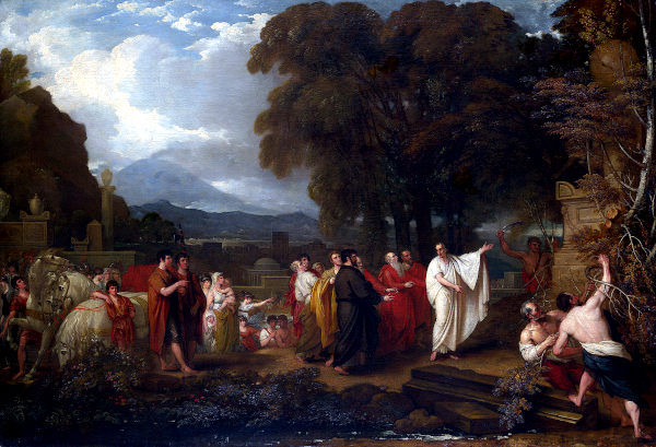 Cicero and the magistrates discovering the tomb of archimedes (1797) - Benjamin West