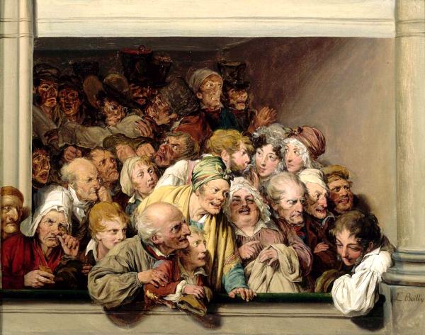 Une loge, un jour de spectacle gratuit (1830) - Louis Leopold Boilly