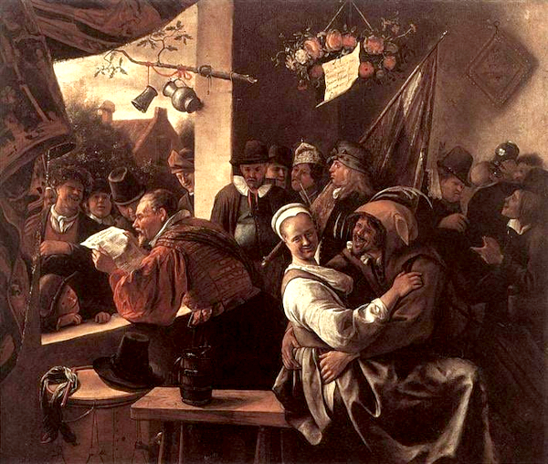 The Rhetoricians (entre 1665 and 1668 ) - Jan Steen