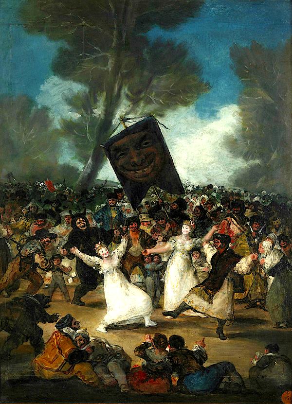 L'enterrement de la sardine (entre 1812 - 1819) - Goya