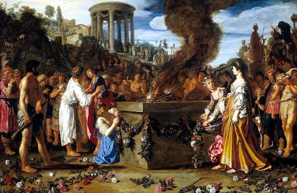 La Lutte sacrificielle entre Oreste et Pylade (1614) - Pieter Lastman
