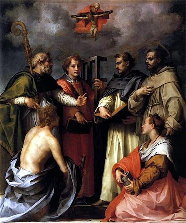 Dispute sur la trinité (1517) - Andrea del Sarto