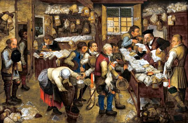 Le paiement de la dîme (1615) - Pieter Brueghel le Jeune