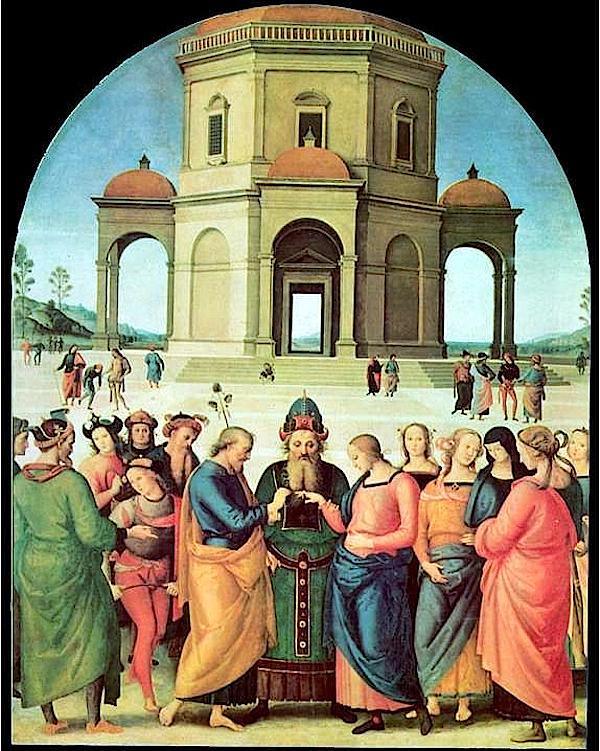 Le Mariage de la Vierge (entre 1501 - 1504) Le Pérugin