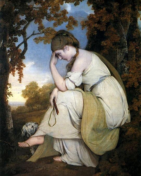 Maria, from Sterne, a Companion to the Picture of Edwin (1781) - Joseph Wright of derby