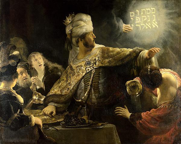 Le festin de Baltazar (1635) - Rembrandt