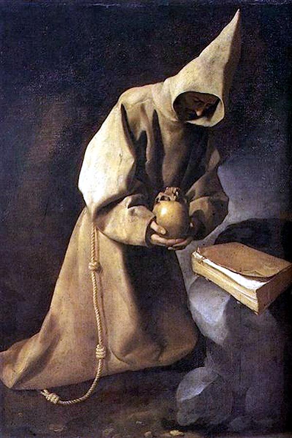 Meditation of St. Francis (1632) - Francisco de Zurbaràn