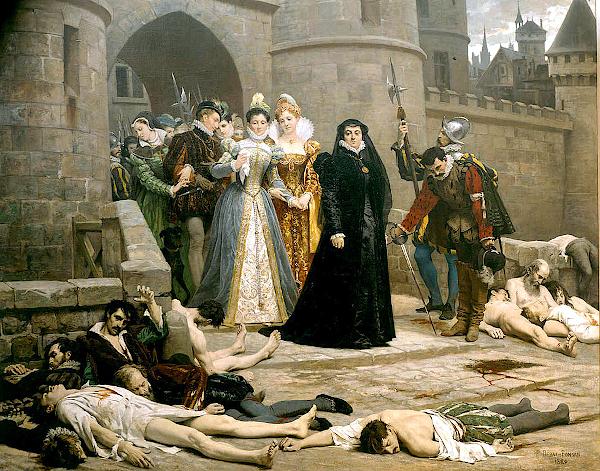 Un matin devant la porte du Louvre (1880) - Edouard Debat-Ponsan