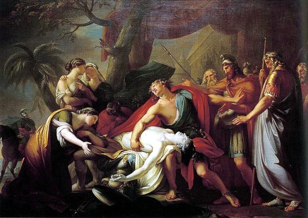 Achille se lamentant sur le corps de Patrocle 1723) - Gavin Hamilton