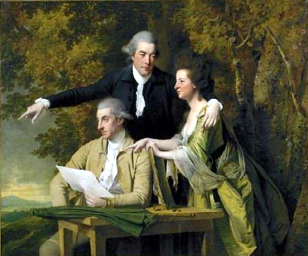 Révérend coke, his wife and cousin (1781-1782) - Joseph Wright of Derby
