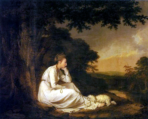 Maria, A Sentimental Journey' by Laurence Sterne (1777) - Joseph Wright of Derby