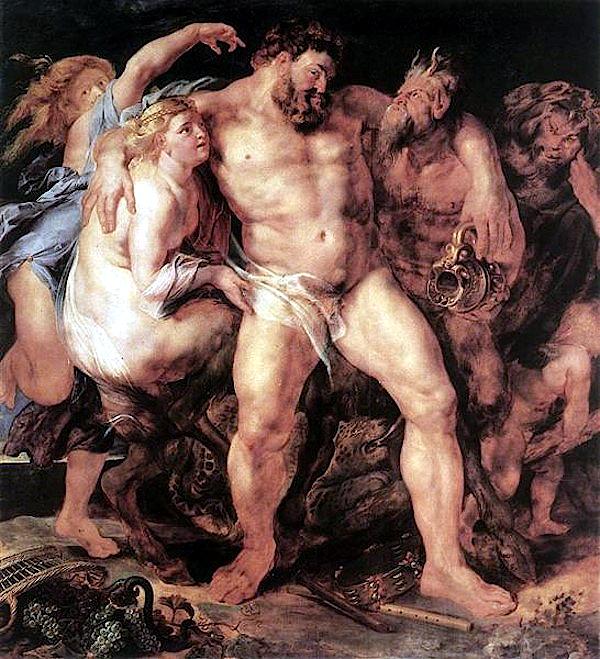 The Drunken Hercules (1611) - Pierre Paul Rubens