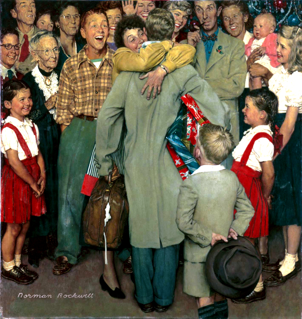 Christmas Homecoming (1948) - Norman Rockwell