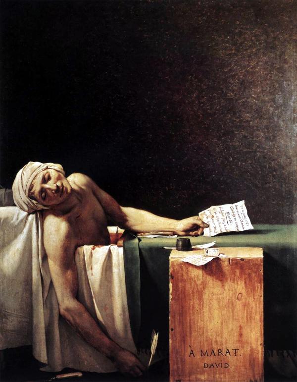 La Mort de Marat (1793) - Jacques-Louis David