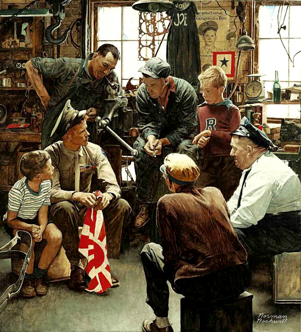 homecoming (1945) - Norman Rockwell