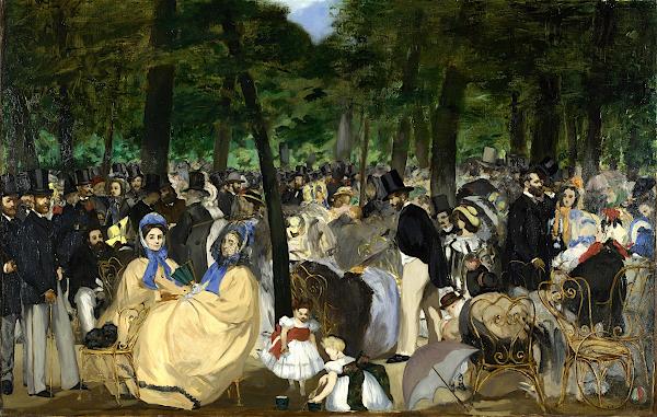 La Musique aux Tuileries (1862) - Édouard Manet