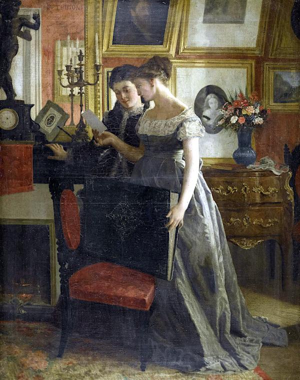 Zwei junge Damen in einem Kabinett (1878) - Charles Victor Thirion
