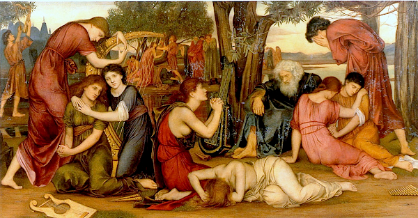 By the Waters of Babylon (1883) - Evelyn De Morgan