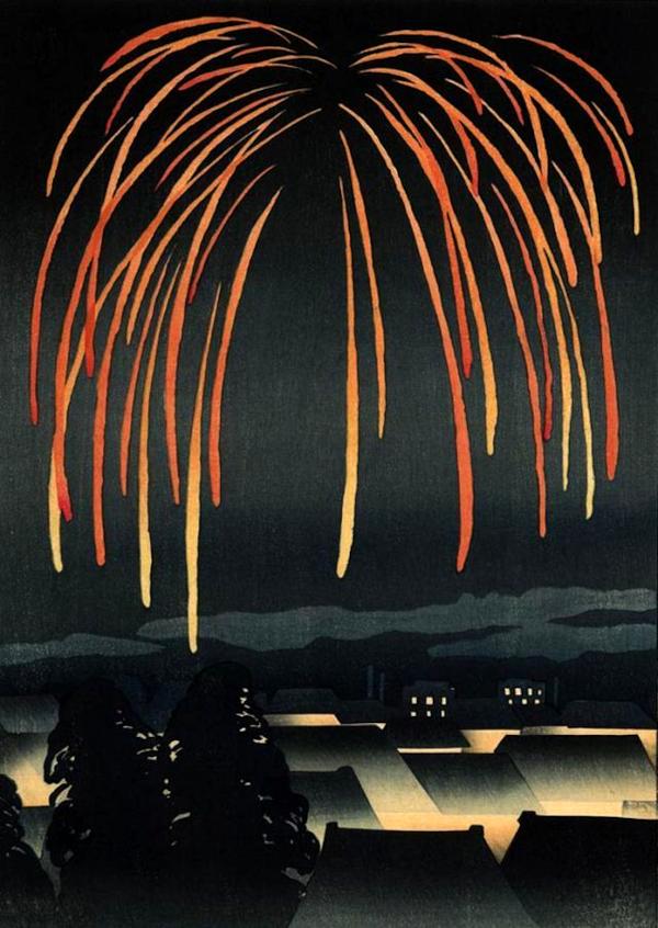 Festival Night Fireworks (1924) - Yamamura Toyonari