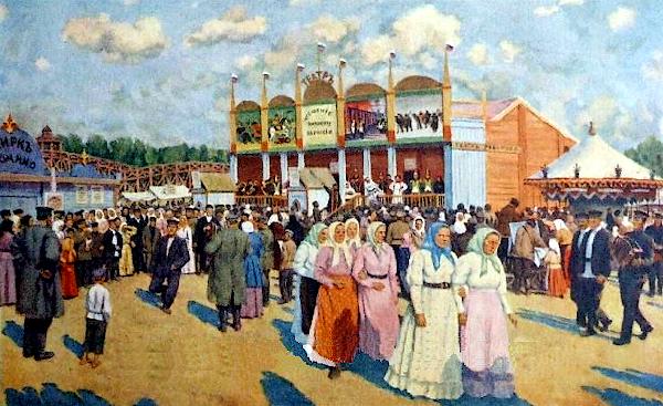Festivities On The Field Devichye (1947) - Konstantin Yuon