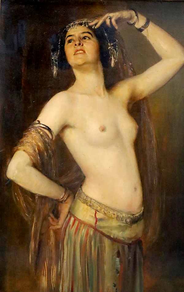 exotic oriental dancer (vers 1900) - Gustav Rienäcker