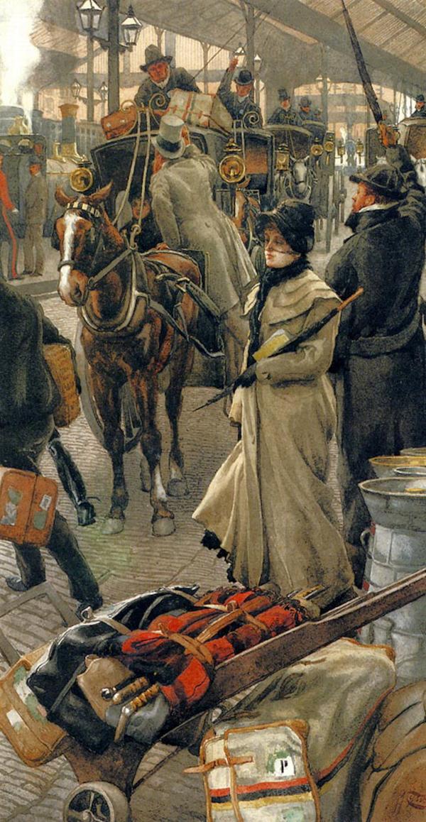 The Departure Platform, Victoria Station (1880) - James Tissot