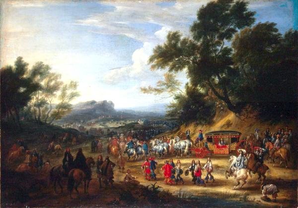 Louis XIV Travelling (1664) - Adam van der Meulen