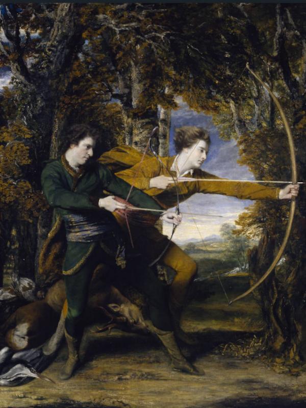 les archers. colonel acland et lord sydney (1769) - Joshua Reynolds