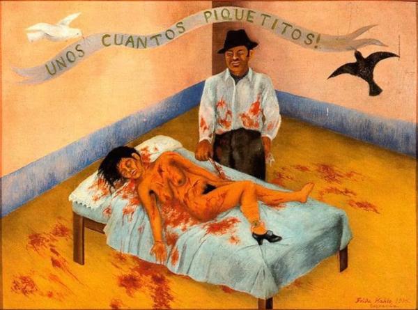 Unos cuantos piquetitos (1935) - Frida Kahlo