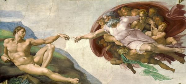 The Creation of Adam (1511) - Michelange