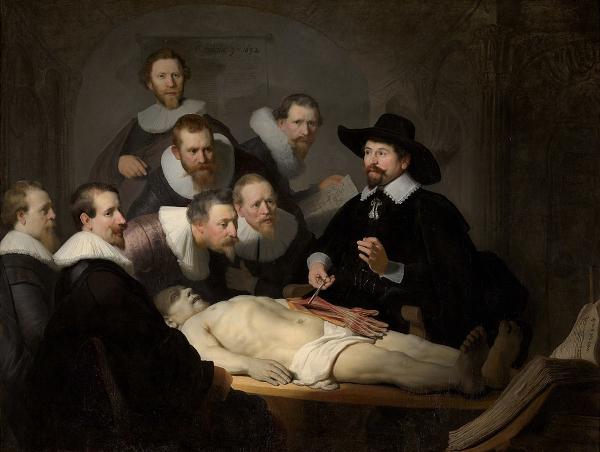 La Leçon d'anatomie du docteur Tulp (1632) - Rembrandt