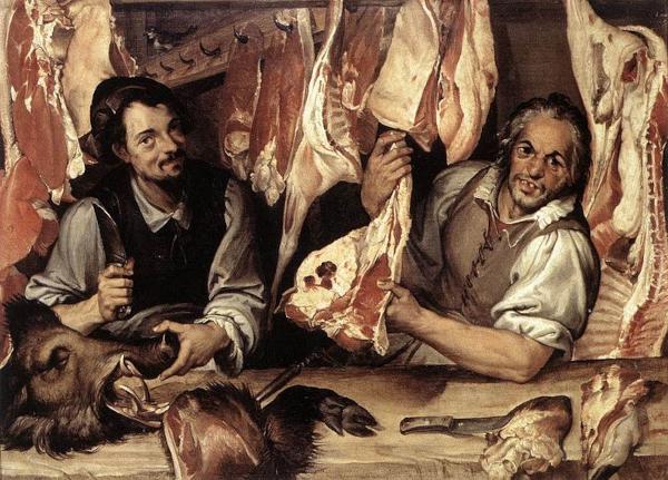 The Butcher's Shop (1580) - Bartolomeo Passerotti